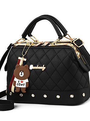 cheap Boys' Tops-Women's Bags PU Leather / Polyester Crossbody Bag Chain for Holiday / Date White / Black / Red / Blushing Pink / Khaki