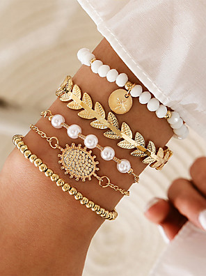 QA/_ EG/_ Women Retro Boho Multilayer Rope Bracelet Magnet Buckle Bangle Jewelry