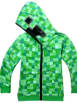 abordables Pulls à Capuche & Sweat pour Filles-Enfants Garçon Basique Bloc de Couleur Manches Longues Pull à capuche & Sweatshirt Vert