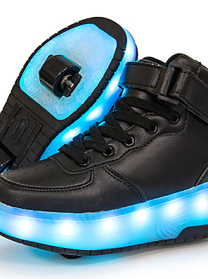 cheap Women's Pants-Boys' / Girls' Sneakers LED Shoes / USB Charging / Luminous Fiber Optic Shoes Leather / Synthetics Sequins Big Kids(7years +) Walking Shoes Sequin / LED / Luminous White / Black / Red Fall / Winter