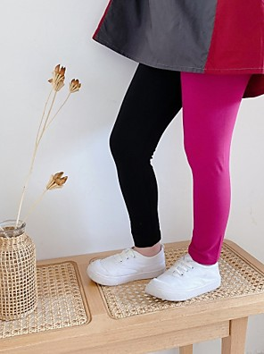 baratos Calças & Leggings para Meninas-Infantil Para Meninas Básico Estampa Colorida Leggings Arco-íris