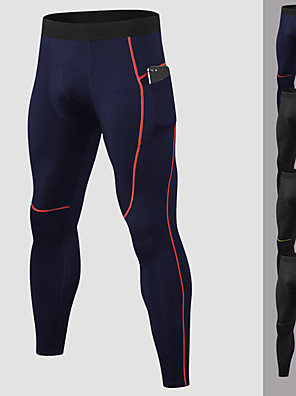 cheap Sports Support & Protective Gear-YUERLIAN Men's Running Tights Leggings Compression Pants Athletic Base Layer Bottoms with Phone Pocket Spandex Fitness Gym Workout Performance Running Training Breathable Quick Dry Moisture Wicking
