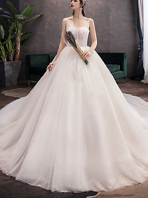 cheap Prom Dresses-A-Line Wedding Dresses Jewel Neck Floor Length Lace Tulle Sleeveless Vintage with Lace Insert Appliques 2020