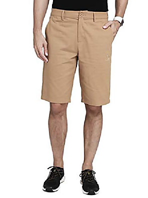 """cheap Men's Pants & Shorts-mens work shorts 12"""" inseam flat front shorts relaxed fit hybrid chino pleated walkshort for men with 4 pockets 11 inch khaki"""