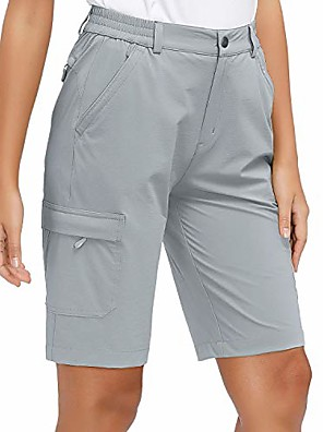 cheap Smart Watches-women's lightweight hiking shorts quick dry cargo shorts, stretch, upf 50, water resistant, light grey m
