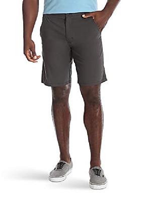 cheap Men's Pants & Shorts-authentics men& #39;s performance comfort waist flex flat front short, anthracite, 33