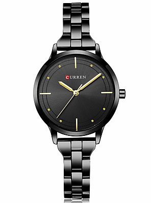 cheap Quartz Watches-CURREN Women's Quartz Watches Quartz Formal Style Modern Style Casual Water Resistant / Waterproof Analog Rose Gold Golden+White Black / One Year / Stainless Steel / Japanese / Shock Resistant