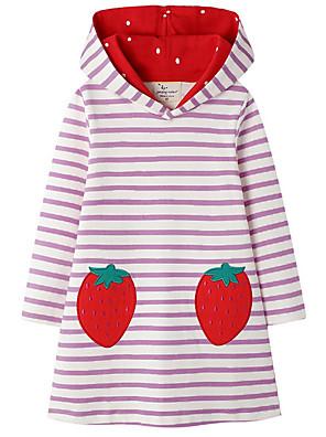 povoljno Majice s kapuljačama i trenirke za djevojčice-Djeca Djevojčice Slatka Style Prugasti uzorak Haljina Blushing Pink