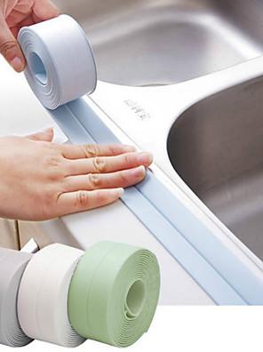 cheap Bathroom Gadgets-3.2mx38mm Bathroom Shower Sink Bath Sealing Strip Tape White PVC Self adhesive Waterproof Wall Sticker for Bathroom Kitchen