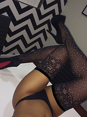cheap Socks & Hosiery-Women's Thin Stockings - Transparent / Sexy Lady / Lace 10D 20D Black One-Size