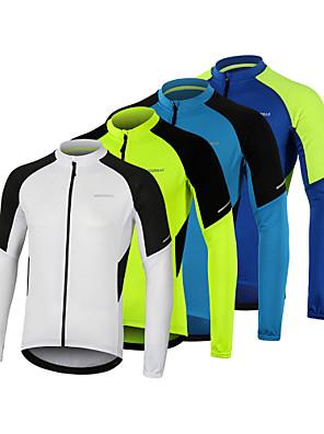 povoljno Biciklističke majice-Arsuxeo Muškarci Dugih rukava Biciklistička majica Zima Poliester Obala Plava Zelen Bicikl Biciklistička majica Majice Brdski biciklizam biciklom na cesti Prozračnost Quick dry Reflektirajuće trake
