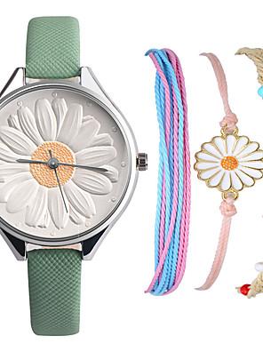 ieftine Cuarț ceasuri-Pentru femei Quartz Quartz Stil modern Stl Modă Cronograf PU piele Negru / Alb / Pink Analog - Alb Negru Roz Îmbujorat