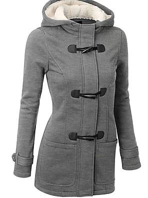 abordables Manteaux en Laine et Mélange de Laine pour Femme-Femme Veste Normal Couleur Pleine Quotidien Noir Rouge Vert S M XL