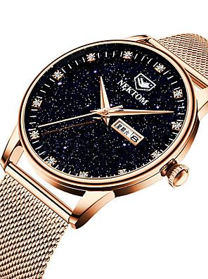 cheap Quartz Watches-NEKTOM Unisex Sport Watch Quartz Stardust Casual Water Resistant / Waterproof Stainless Steel Black / Silver / Gold Analog - Digital - Black+Gloden Black Blue / Japanese