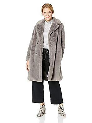 Недорогие Топы для мальчиков-женские куртки из искусственного меха, темный верблюд, s