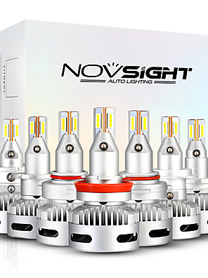 cheap Smart Watches-NOVSIGHT 2pcs A500-N26 For H7-H11-9005-9012-D1-D2-D5Car Light Bulbs 90 W 12000 lm LED Headlamps For universal General Motors All years With Set Up video