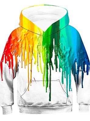 cheap Boys' Tops-Kids Boys' Active Basic Striped Long Sleeve Hoodie & Sweatshirt Rainbow