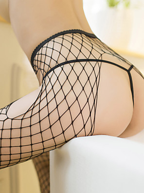 cheap Suits-Women's Thin Stockings - Sexy / Lace 30D Black One-Size