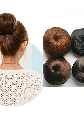 cheap Mini Dresses-Human Hair Lace Wig Hair Bun Women / Easy dressing / Lovely Drawstring Synthetic Hair Hair Piece Hair Extension Natural Black #1B / Brown / Medium Auburn#30