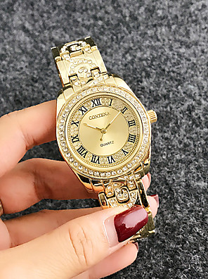 cheap Quartz Watches-Women's Quartz Watches Quartz Stylish Fashion Adorable Silver / Rose Gold Analog - Rose Gold Gold Silver One Year Battery Life