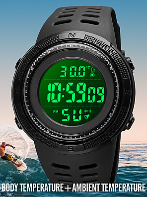 cheap Sport Watches-SKMEI Men's Sport Watch Digital Modern Style Stylish Outdoor Calendar / date / day Silicone Black Digital - Black Blue Black / White One Year Battery Life