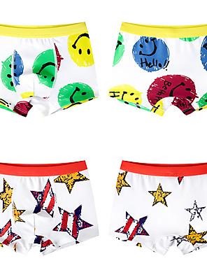 cheap Boys' Clothing Sets-2 Piece Kids Boys' Basic Print Underwear & Socks Yellow