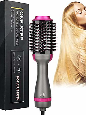 cheap Smart Watches-Negative Ion Curler Straightening Comb Hair Dryer Brush One Step 3-in-1 Hot Air Styler and Volumizer, 2 Temperatures 3 Speeds Reduce Frizz and Static Suitable for Long Hair