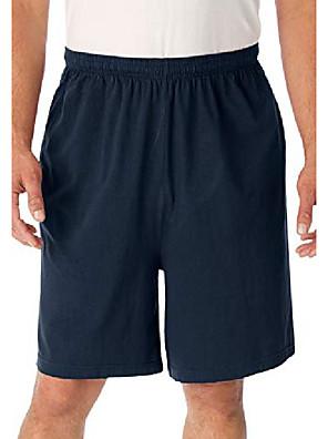 cheap Men's Pants & Shorts-but& #39;s big & tall lightweight jersey shorts - big - 3xl, navy