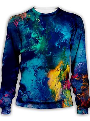 cheap Unicorn Dresses-Men's Daily Pullover Sweatshirt Graphic Round Neck Casual Hoodies Sweatshirts  Royal Blue