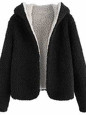 abordables Robes pour Filles-veste en peluche pour femme en polaire floue réversible à capuche ouverte sur le devant (noir, l)