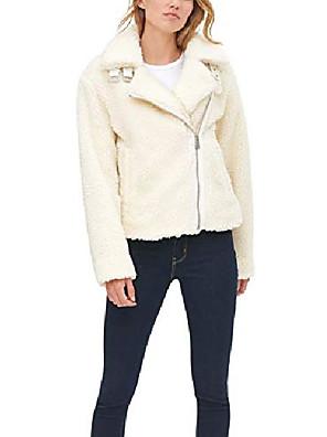 abordables Robes pour Filles-veste moto asymétrique the megan sherpa pour femme, crème, très petite