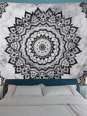 cheap Landscape Tapestries-Mandala Bohemian Wall Tapestry Art Decor Blanket Curtain Hanging Home Bedroom Living Room Dorm Decoration Boho Hippie Psychedelic Floral Flower Lotus Indian