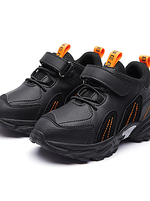 cheap Boys' Tops-Boys' Trainers / Athletic Shoes Comfort PU Lace up Little Kids(4-7ys) / Big Kids(7years +) Walking Shoes Black / Pink / Gray Fall / Winter