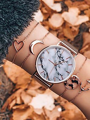 ieftine Cuarț ceasuri-Pentru femei Quartz Quartz Stil Vintage Stil modern Clasic Cronograf Cristal Roz auriu Analog - Roz auriu