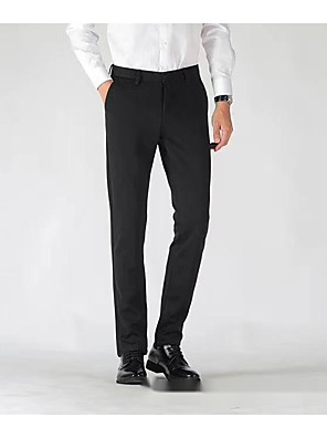 cheap Men's Pants & Shorts-buttoned down men's tailored fit stretch wool dress pant, navy, 42w x 30l