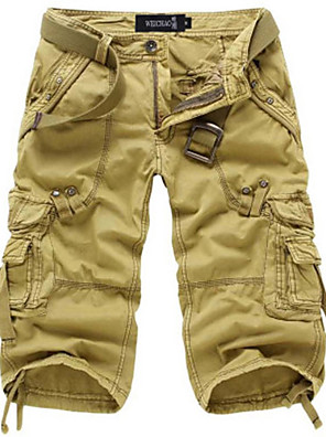 cheap Men's Pants & Shorts-Men's Basic Daily Tactical Cargo Pants Solid Colored Classic Outdoor Wine Army Green Khaki 29 30 31