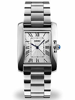 povoljno Kvarcni satovi-srebrni analogni sat za žene, ženske vodonepropusne ručne satove kvarcni satovi s trakom od nehrđajućeg čelika, vodootporni sat