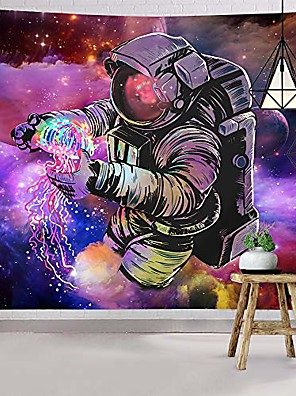 cheap Landscape Tapestries-trippy astronaut tapestry wall hanging fantasy galaxy tapestry hippie wall art colorful space wall tapestry home decor