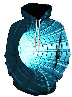 cheap Men's Tops-Men's Pullover Hoodie Sweatshirt Graphic 3D Hooded Daily 3D Print Basic Hoodies Sweatshirts  Long Sleeve Blue Purple Red