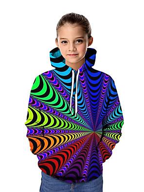 povoljno Majice s kapuljačama i trenirke za dječake-Djeca Djevojčice Osnovni Grafika Dugih rukava Trenirka s kapuljačom Duga