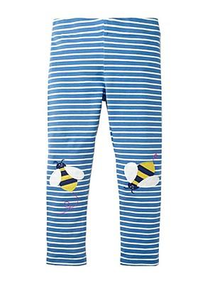 billige Bukser og leggings til piger-Børn Pige Basale Blå Stribet Trykt mønster Leggings Blå