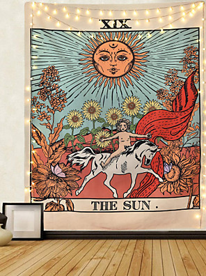 cheap Landscape Tapestries-Tarot Divination Wall Tapestry Art Decor Blanket Curtain Picnic Tablecloth Hanging Home Bedroom Living Room Dorm Decoration Mysterious Bohemian Moon Sun Star