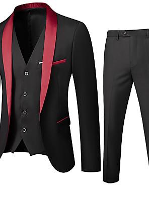 povoljno Muške košulje-Muškarci Maramasti rever odijela Jednobojni Crn / Red / Lila-roza US32 / UK32 / EU40 / US34 / UK34 / EU42 / US36 / UK36 / EU44