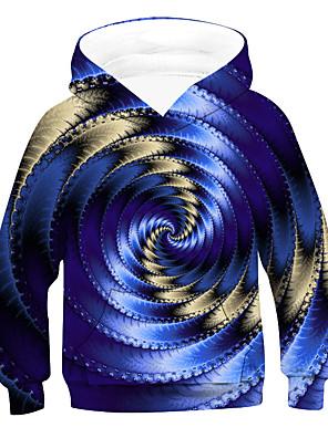 povoljno Majice s kapuljačama i trenirke za dječake-Djeca Dječaci Aktivan Osnovni 3D Vezica Dugih rukava Trenirka s kapuljačom Plava