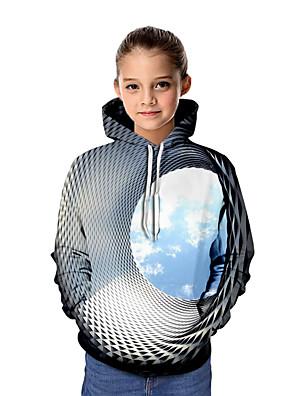 povoljno Majice s kapuljačama i trenirke za dječake-Djeca Djevojčice Osnovni Grafika Dugih rukava Trenirka s kapuljačom Dusty Blue