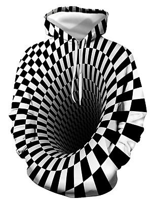 cheap Men's Tees & Tank Tops-Men's Daily Pullover Hoodie Sweatshirt 3D Graphic Hooded Casual Basic Hoodies Sweatshirts  Long Sleeve Black