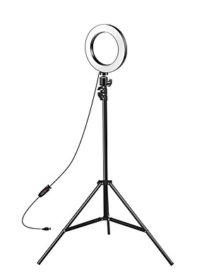 cheap Quartz Watches-8-inch Selfie Ring Light with Adjustable Tripod Stand & Cell Phone Holder for Live Stream YouTube Video MakeupDimmable LED Camera Ringlight with 3 Light Modes