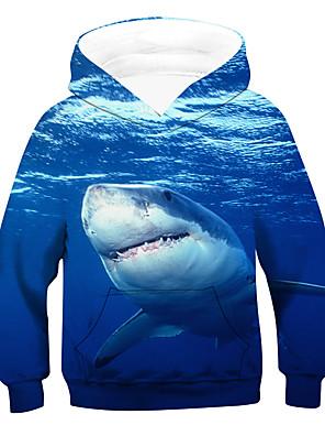 cheap Boys' Tops-Kids Boys' Active Basic 3D Animal Long Sleeve Hoodie & Sweatshirt Blue
