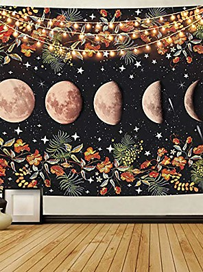 cheap Landscape Tapestries-Wall Tapestry Art Decor Blanket Curtain Picnic Tablecloth Hanging Home Bedroom Living Room Dorm Decoration Moon Sky Galaxy