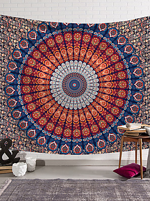 cheap Wall Tapestries-Mandala Bohemian Wall Tapestry Art Decor Blanket Curtain Picnic Tablecloth Hanging Home Bedroom Living Room Dorm Decoration Boho Hippie Psychedelic Floral Flower Lotus